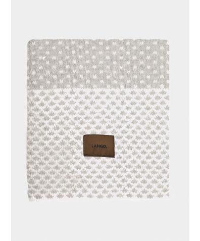 Wool Blanket - Grey White Multiprint