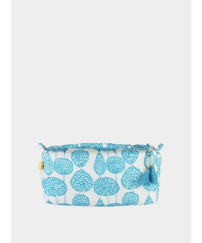 Lanka Little Trees Make Up Bag - Aqua