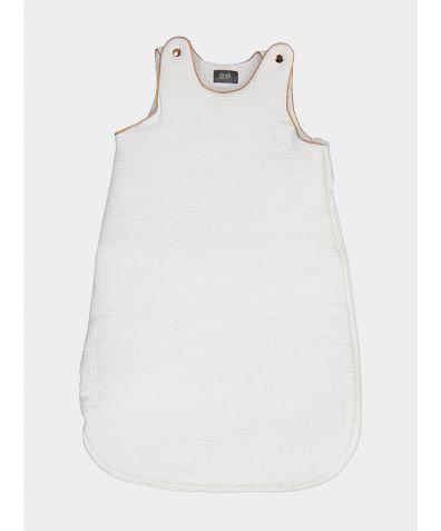 Organic Cotton Children's Sleepy Sleeping Bag - White