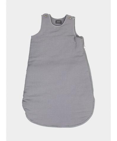 Organic Cotton Children's Sleepy Sleeping Bag - Light Grey