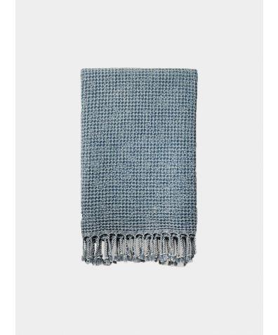 Rulo Waffle Peshtemal Bath Towel - Marine Blue