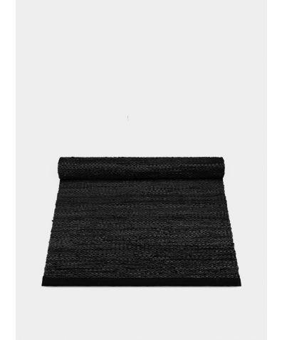 Leather Rug - Black
