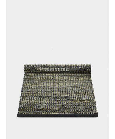 Jute Leather Rug - Graphite
