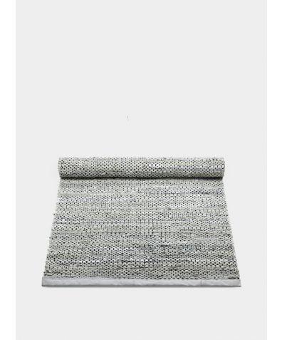 Leather Rug - Light Grey