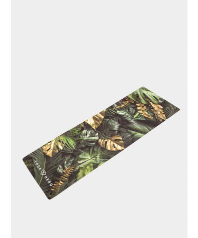 Travel Yoga Mat - Leaves
