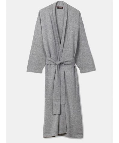 Legere Cashmere Dressing Gown - Soft Grey