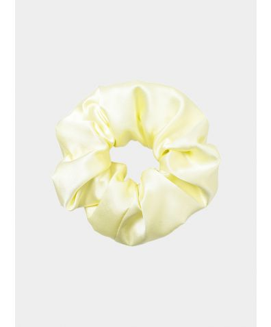 Giant Silk Scrunchie - Lemon