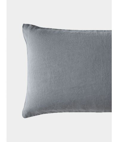 French Linen Oxford Pillowcase - Lens Charcoal