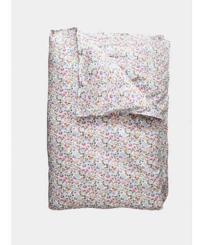 Liberty Print Duvet Cover - Betsy Grey