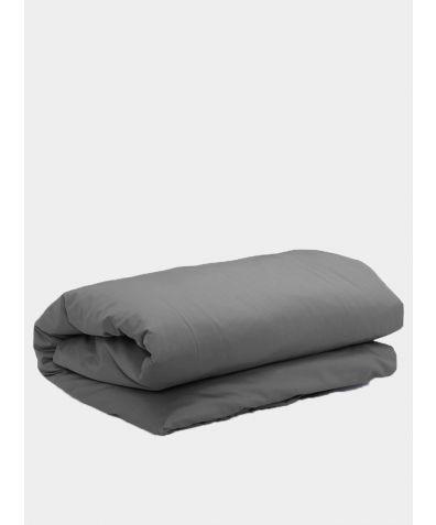 500 Thread Count Cotton Sateen Duvet Cover - Deep Grey