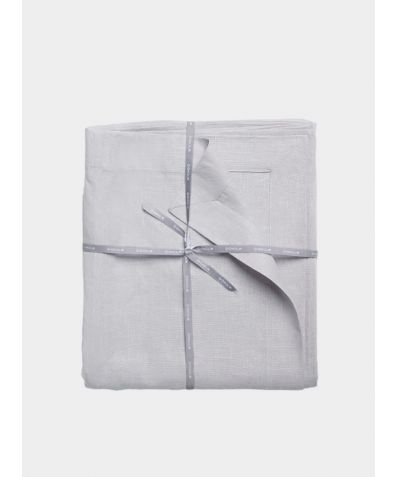 Stonewashed Linen Flat Sheet – Light Grey