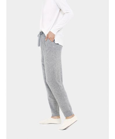 Wool Cashmere Joggers - Grey