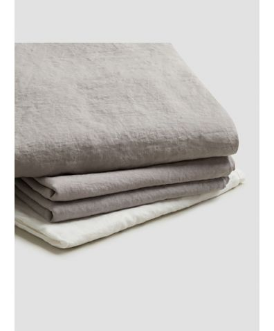 Natural French Flax Linen Basic Bundle - Dove Grey