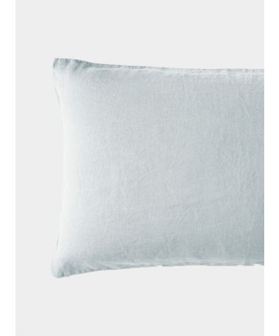 French Oxford Linen Pillowcase - Moustier Duck Egg