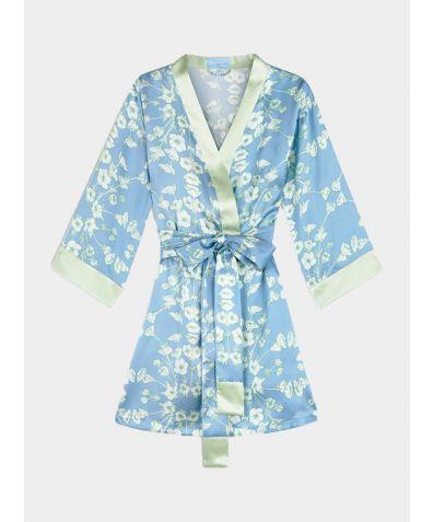 Buttercup Silk Robe - Blue