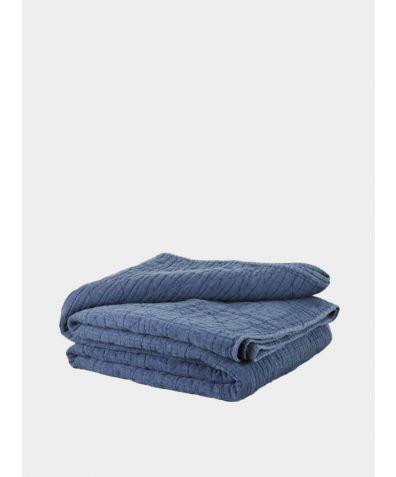 Lilla Mattelasse Bedspread - Aegean Blue