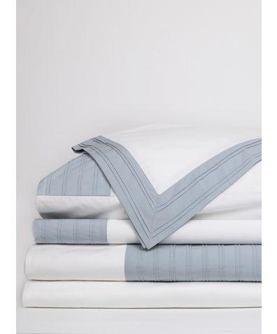 Star Gazer Organic Cotton Duvet Cover - Shoal Pleat