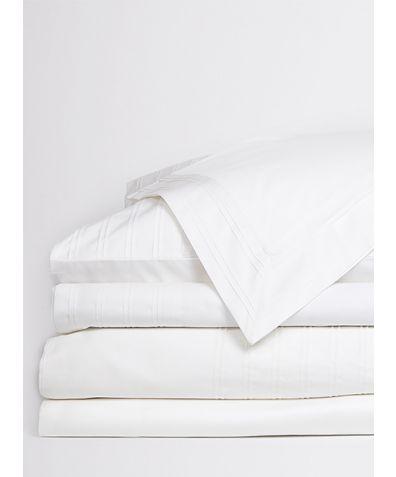 Star Gazer Organic Cotton Duvet Cover - White Pleat
