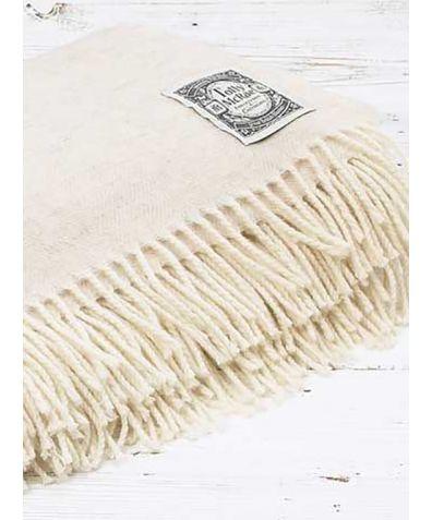 Super Soft Merino Wool Throw - Lime White