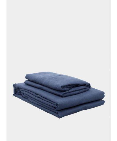 Lisbon Linen Duvet Cover - Aegan Blue