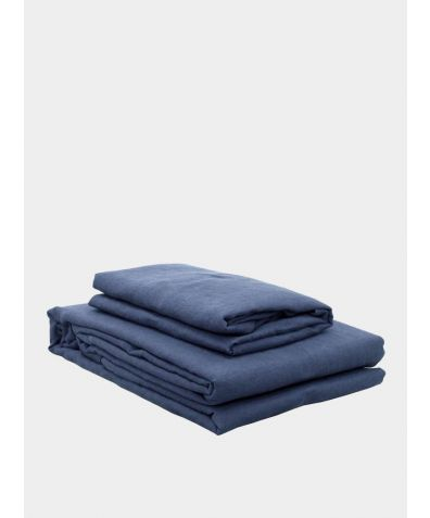 Lisbon Linen Pillowcases (Pair) - Aegean Blue