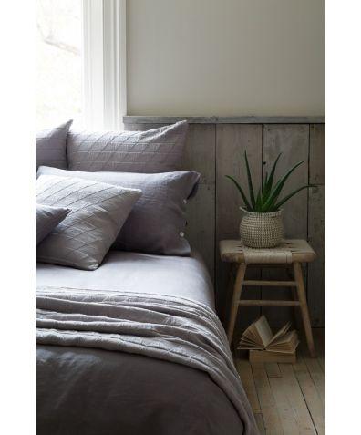 Lisbon 100% Linen Pillowcases (Pair) - Pewter Grey