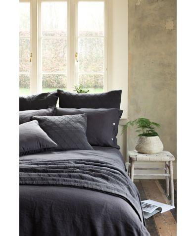 Lisbon 100% Linen Duvet Cover - Slate Grey