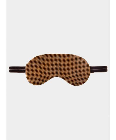 Silk Sleep Mask - Brown Dots