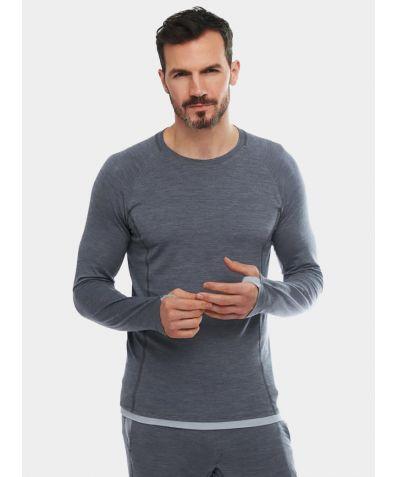 Mens Nattwarm® Sleep Tech Long Sleeve Top - Dark Grey