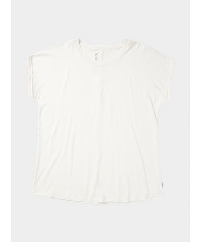 Downtime Lounge Bamboo Top  - White