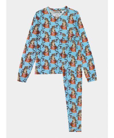 Women's Cotton Loungewear Trouser Set - Roaring Butterflies