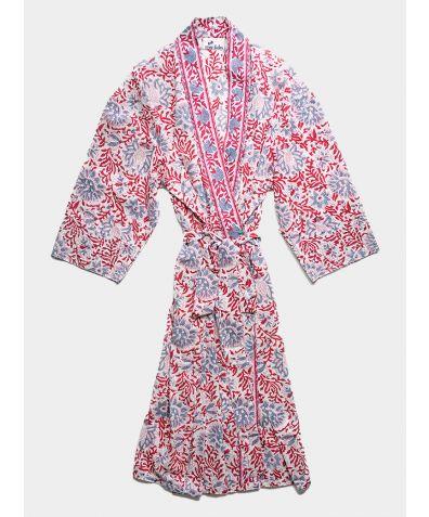 Organic Cotton Block Printed Robe - Mahi