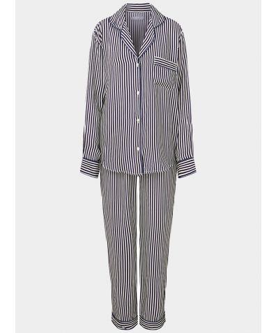 Women's Vegan Silk Pyjama Trouser Set - Marinha