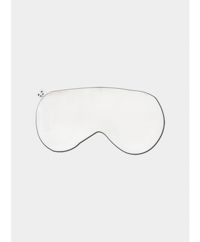 Mulberry Silk Infused Bamboo Eye Mask – White