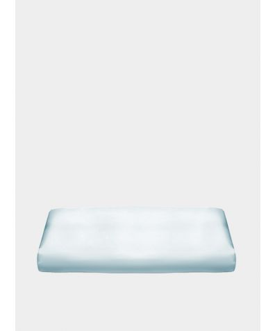 Fitted Silk Bed Sheet 22 Momme - Pastel Blue