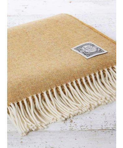 Super Soft Merino Wool Throw - English Mustard