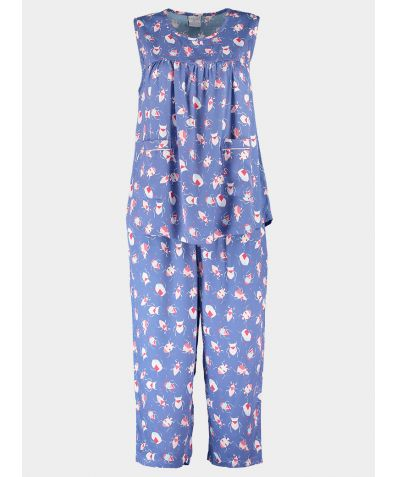 Organic Bamboo Pyjama Midi Set - Candy-Coloured Critters