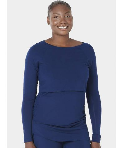 Maternity & Nursing Nattwell® Long Sleeve Top - Midnight Blue