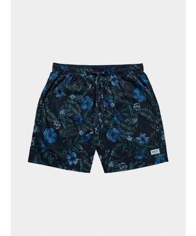 Mens Cotton Pyjama Shorts - Midsummer Bloom