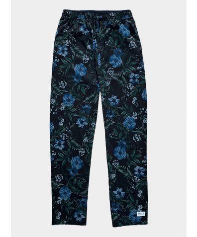 Mens Cotton Pyjama Trousers - Midsummer Bloom