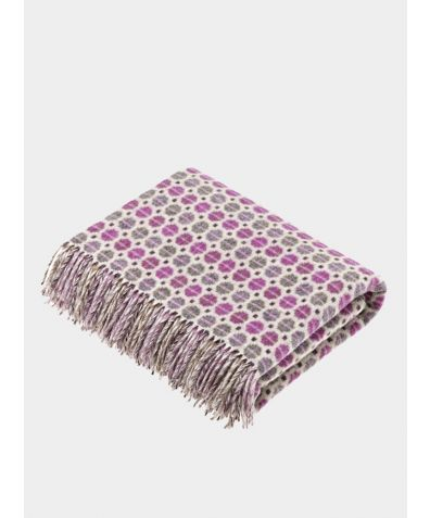 Milan Lambs Wool Throw - Clover