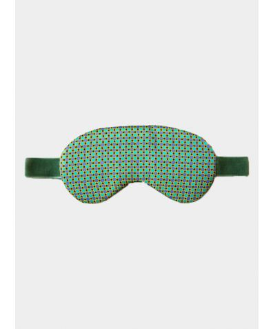Silk Sleep Mask - Mint Dots