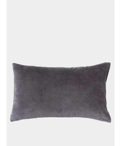 Misi Velvet Cushion - Pewter Grey