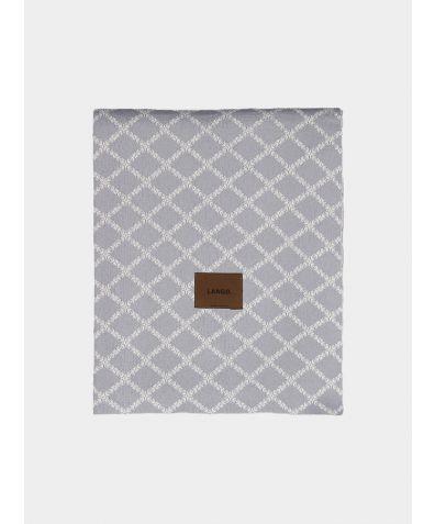 Merino Wool Blanket - Grey White