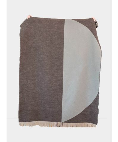 New Zealand Lambswool Blanket - Moon Grey