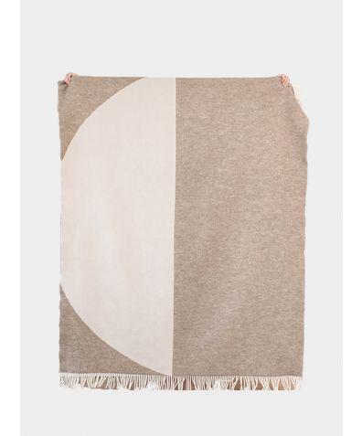 New Zealand Lambswool Blanket - Moon Ecru