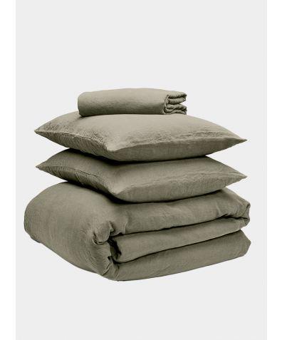Linen Bedding Bundle - Moss