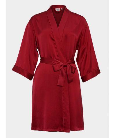 Mulberry Silk Robe - Red