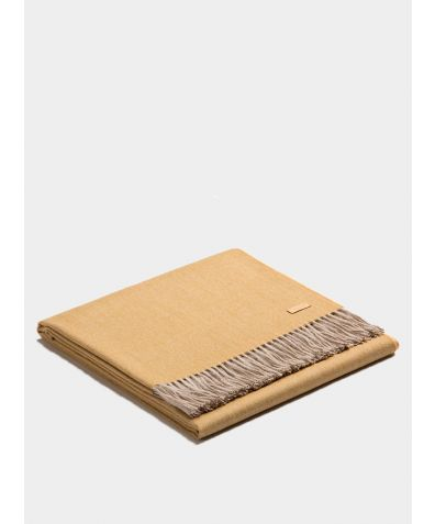 Plaid Exclusive Fishbone Blanket - Mustard-Beige