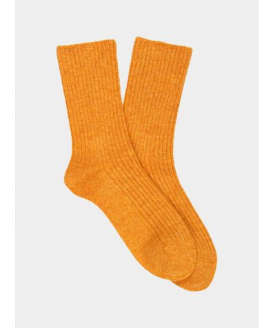 Women's Cashmere Socks - Mustard